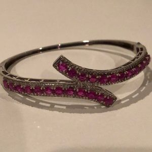Ruby (lab-created) & Sterling Silver bracelet
